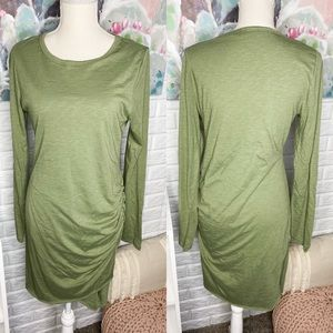 Pink Lily Green Sure to Fall In Love Dress